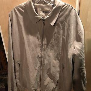 St Johns Bay Mens Lightweight Tan Jacket XL
